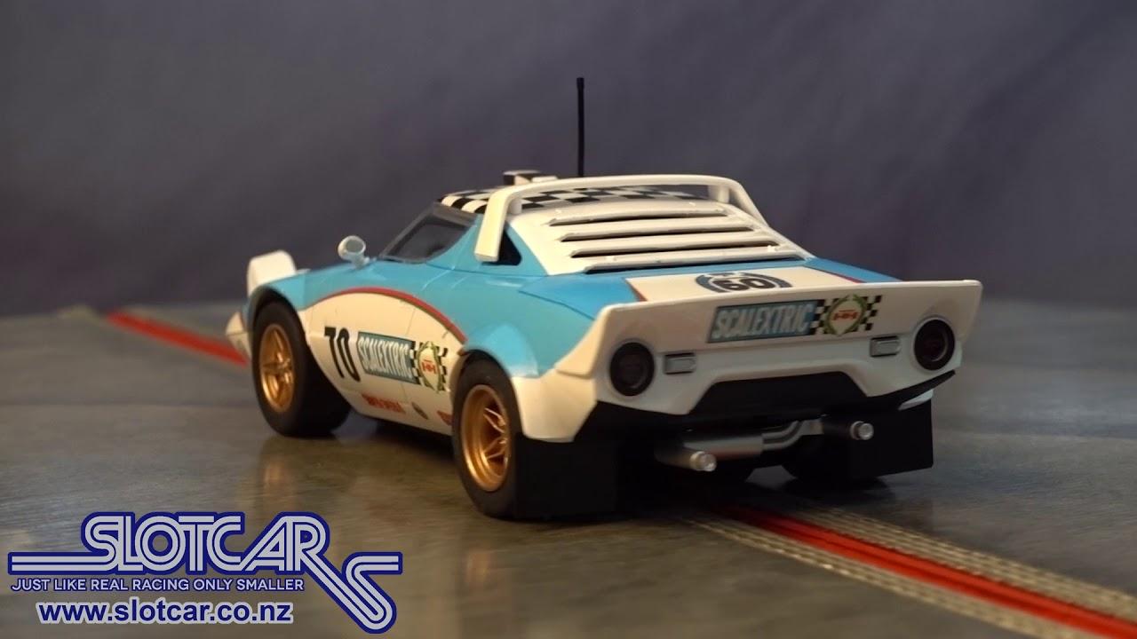 scalextric slot car 60th anniversary lancia stratos 70s slotcar
