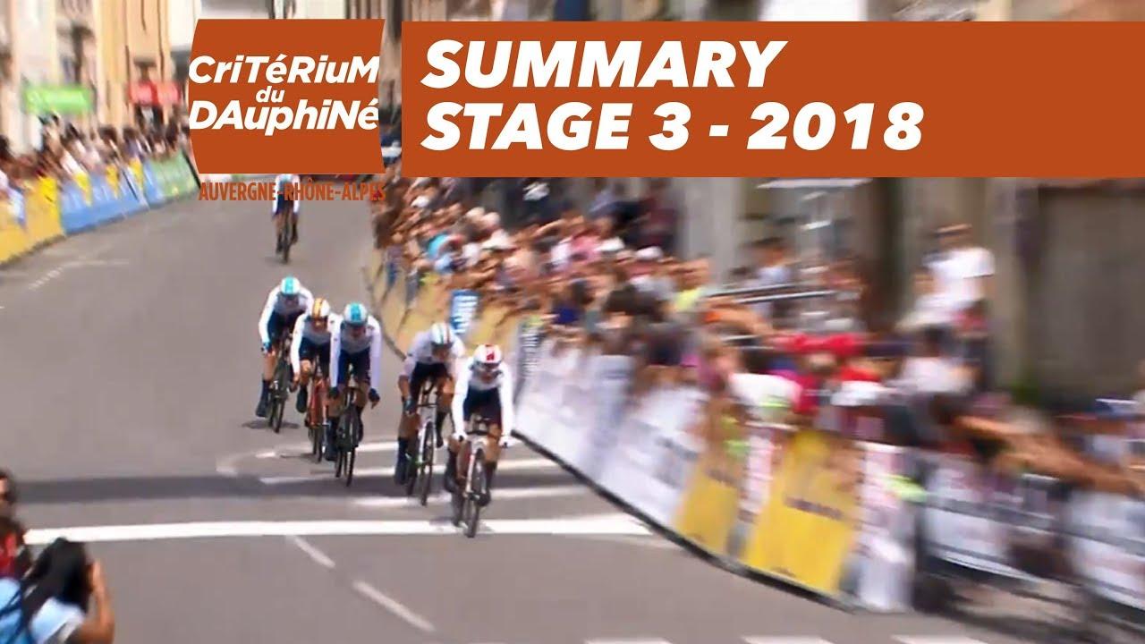Criterium du Dauphine: Stage 3 highlights - Video | Cyclingnews com