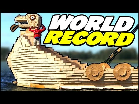 World Record Viking Ship - Largest Cardboard Ship Ever!