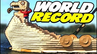 World Record Viking Ship - Largest Cardboard Ship Ever!