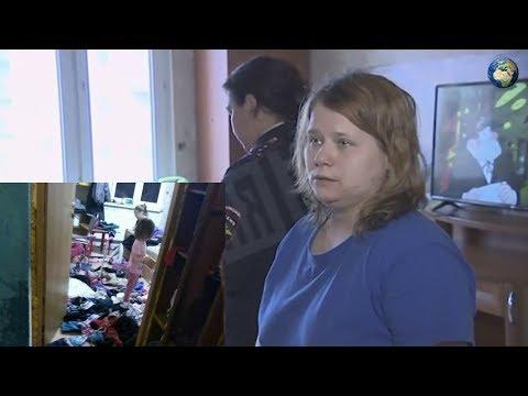 Мать с детьми-маугли в Петербурге держит детей в ужасных условиях