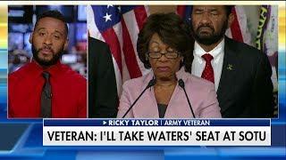 Veteran offers to take Rep. Maxine Waters