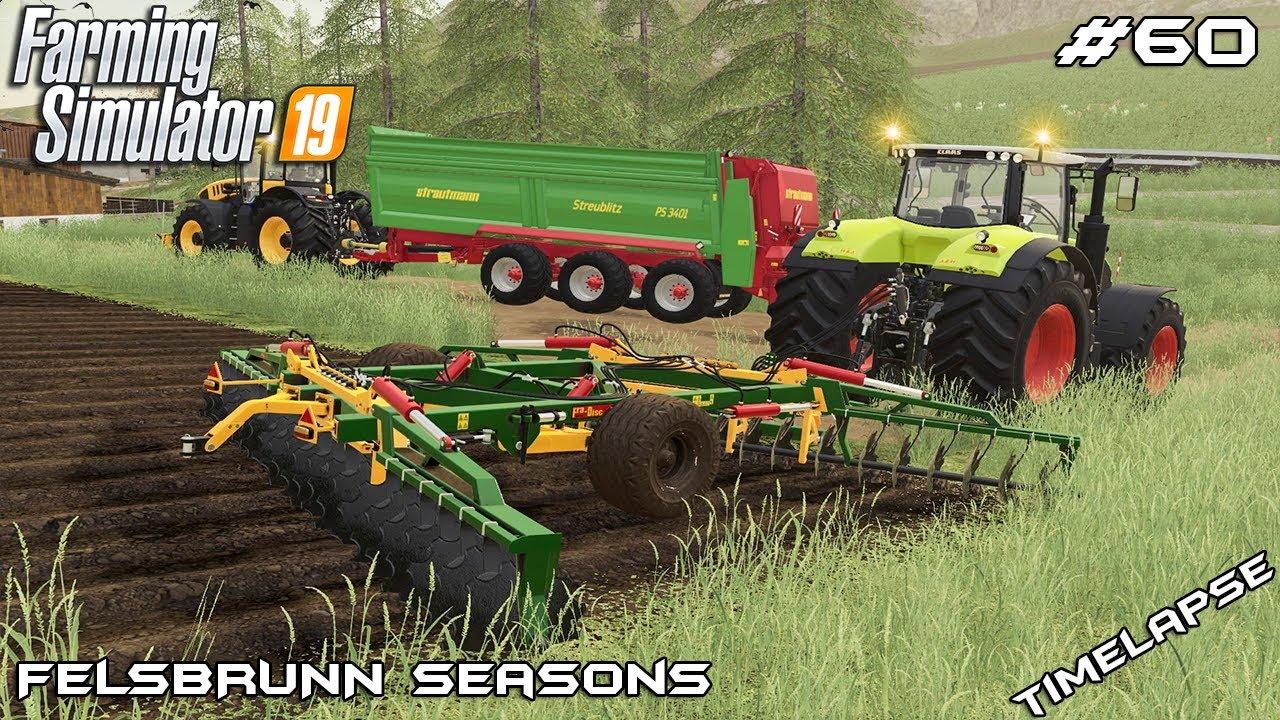 Spreading manure & plowing fields | Animals on Felsbrunn Seasons | Farming  Simulator 19 | Episode 60