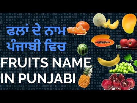 Fruits name in punjabi and English(ਫਲਾਂ ਦੇ ਨਾਮ ਪੰਜਾਬੀ ਅਤੇ ਇੰਗਲਿਸ਼ ਵਿਚ)