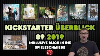 Kickstarter / Spieleschmiede Überblick 09 / 2019