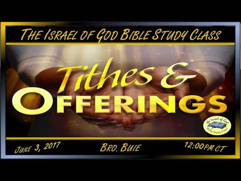 """IOG - """"Tithes & Offerings"""" 2017"""