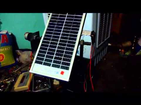 Simple solar tracker homemade circuit low cost project - YouTube
