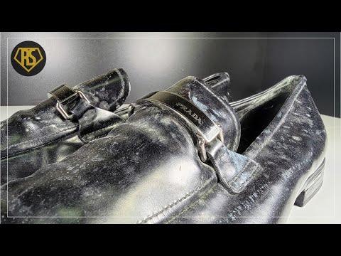 🎧ASMRㅣPRADA Loafers Restoration - Moldy Shoes ㅣ프라다 로퍼 복원ㅣ4K🖌️