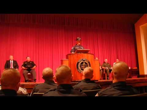 Johnny's speech at 154th WV Police Academy Graduation