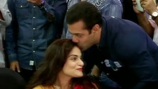 Salman Khan Shows His Brotherly Love For Alvira - Watch Video