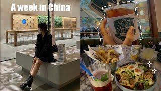 【vlog】 중국 유학생의 일주일 방학ㅣ전시회ㅣ루프탑 …