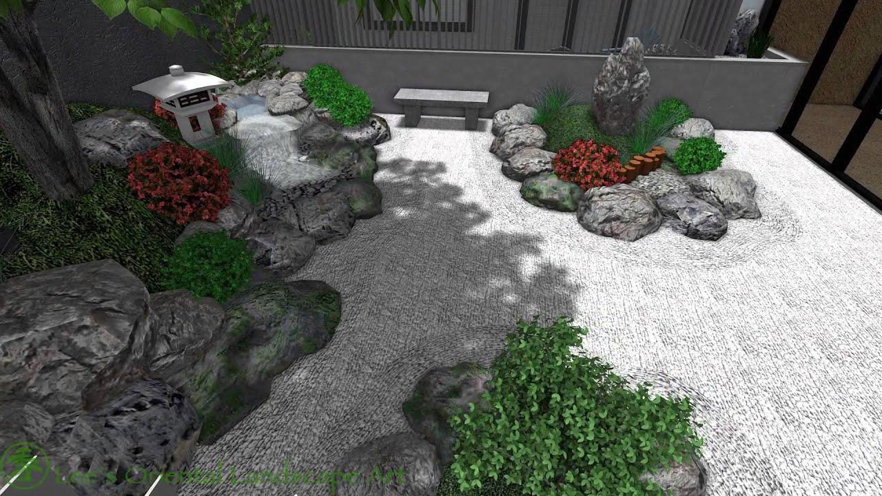 japanese garden design - melbourne  australia - condo courtyard area