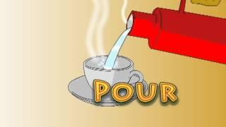 Animasi mengajar Bahasa Inggris (How to Make a Cup of Coffee)