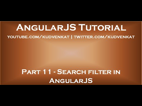 Search Filter In AngularJS