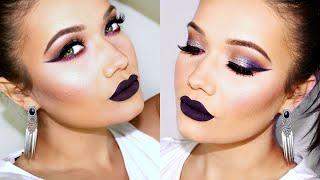 Dramatic Eyes & Dark Lips Makeup Tutorial