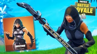 FORTNITE-I BOUGHT NEW DESTINATION SKIN and STAYED TOP1!!!