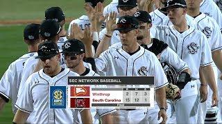 HIGHLIGHTS: Baseball vs. Winthrop — 2/21/18