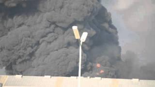 Grote Brand In Havengebied Amsterdam