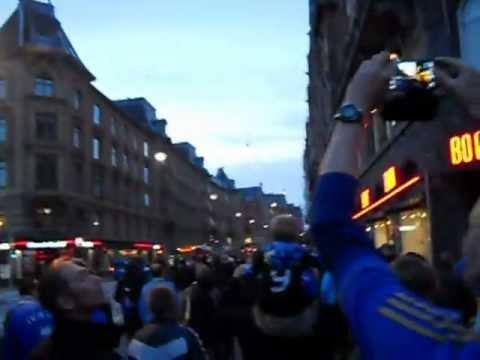 Chelsea march in Copenhagen.