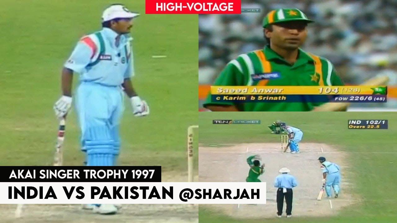 India vs Pakistan Thrilling Cricket Highlights | Akai Singer Trophy 1997 @Sharjah