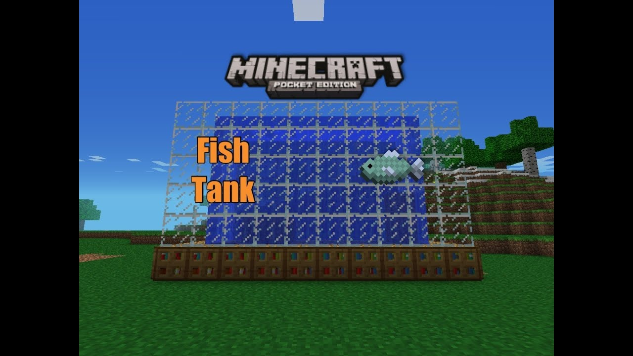 Minecraft pe fish tank youtube for How to fish in minecraft pe