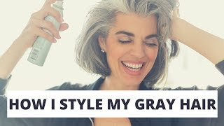 How I Style My Gray Hair | Chic Bob Hair Style | Nikol Johnson