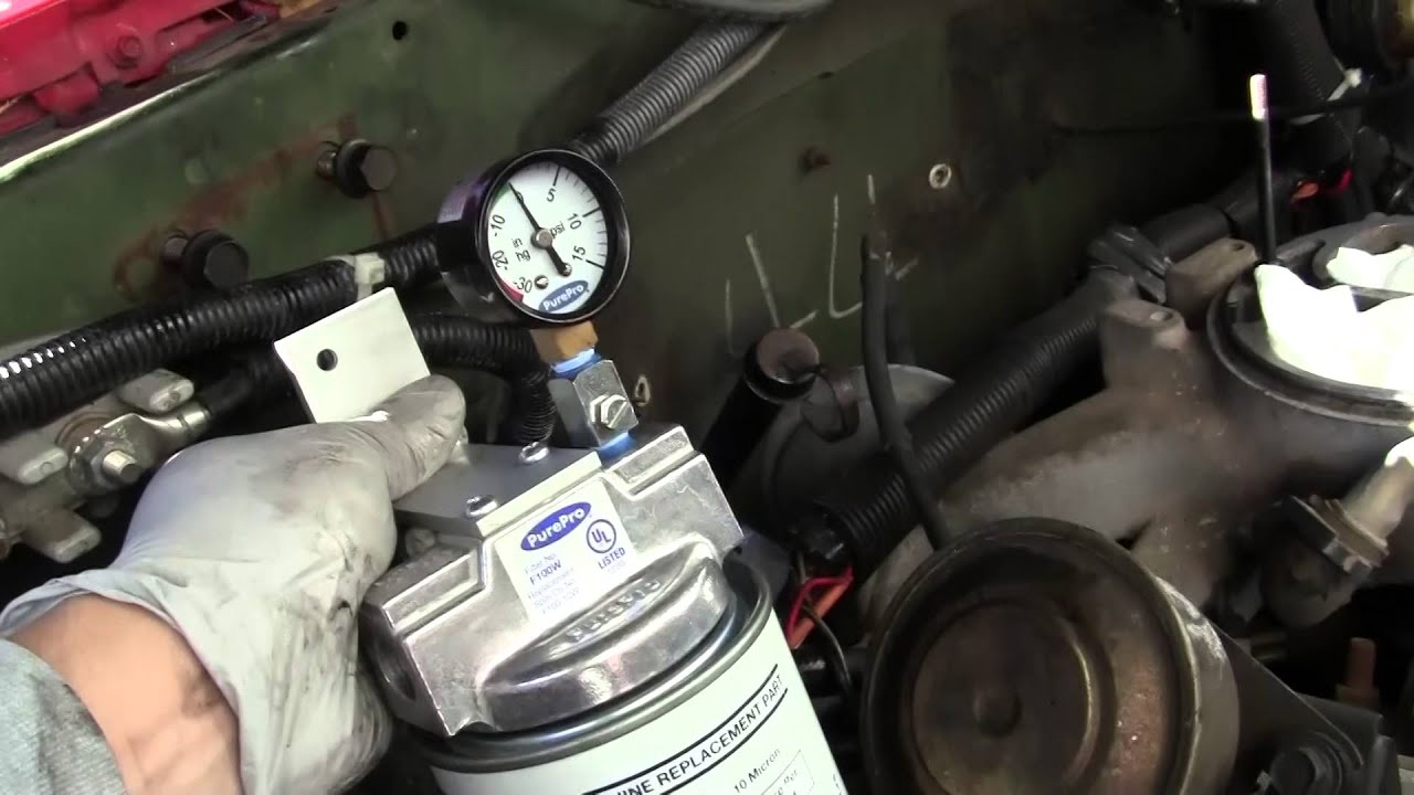 1986 chevy cucv 6 2l diesel fuel filter conversion [ 1280 x 720 Pixel ]