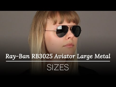 ray ban rb3044  ray ban rb3025 aviator large metal vs ray ban rb3044 aviator small metal size comparison