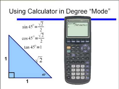 how to change calculator to degree mode