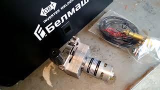 Виде обзор двигатель протяжка  и евро рукав (горелка) для полуавтомата Белмаш MIG/MMA-320