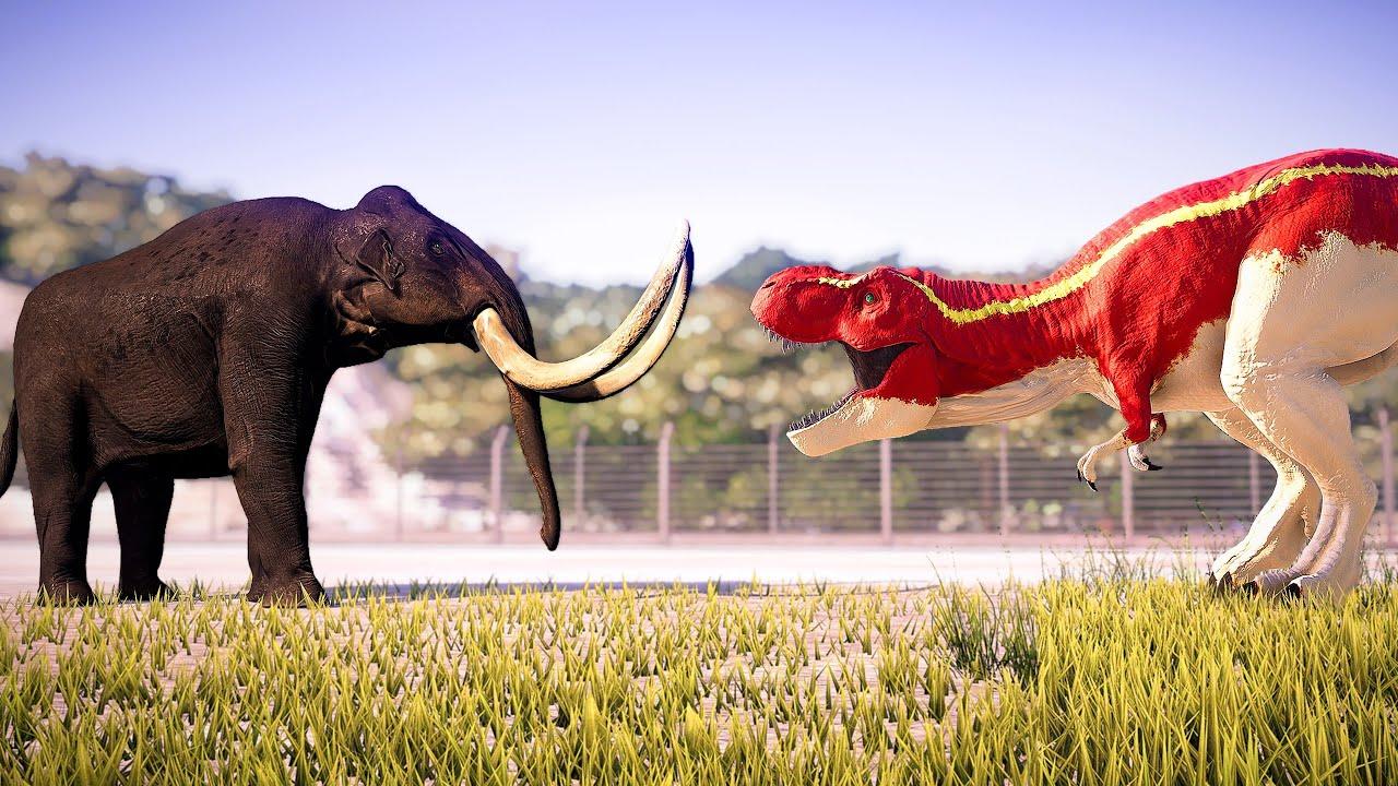 Tyrannosaurus Rex Vs Mammoth | Who will win? 🌍 Return to ...