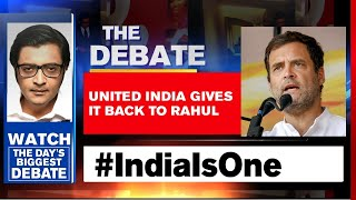 India Unites Against Rahul Gandhi's 'North Vs South' Remark | The Debate With Arnab Goswami