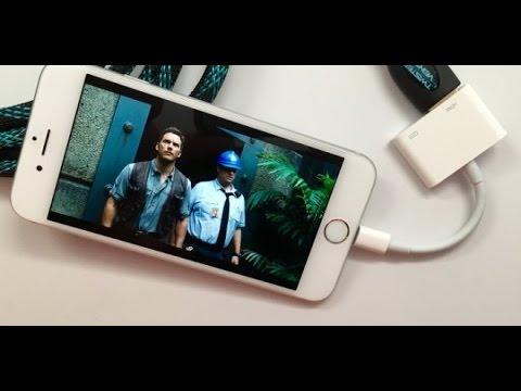 عرض شاشة الايفون على التلفاز ومشاهدة الافلام بدقه عاليه Youtube