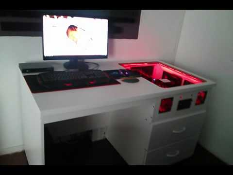 Mesa casemoding gamer youtube - Mesas para ordenador pequenas ...