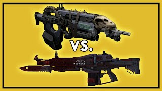 Destiny: Red Death vs. Bad Juju - Exotic Pulse Rifle Weapon Comparison