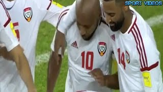 بالفيديو.. الإمارات تنعش آمال المونديال بثنائية في العراق