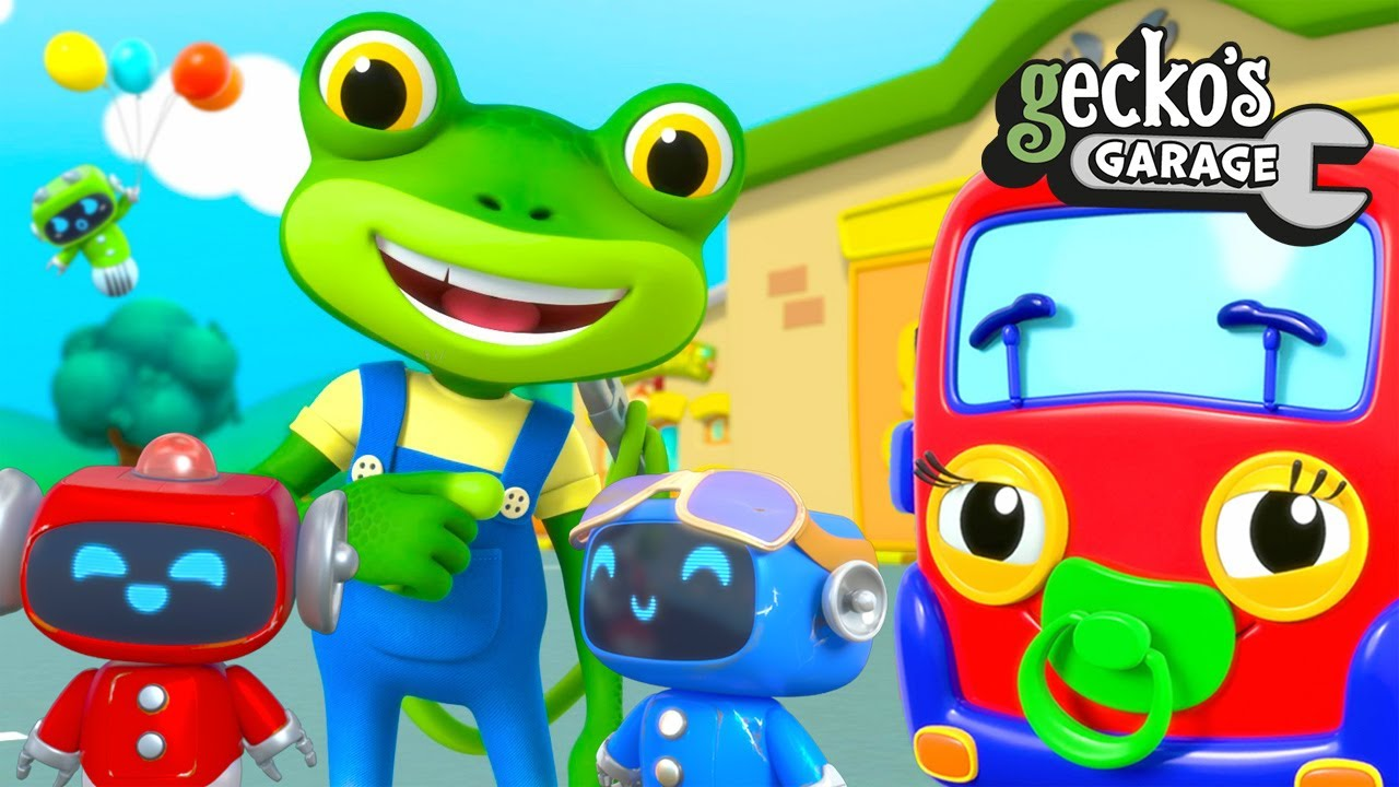 Fun At Gecko's Garage!|Baby Trucks & Baby Robots|Funny Cartoon For Kids|Learning Videos For Toddlers