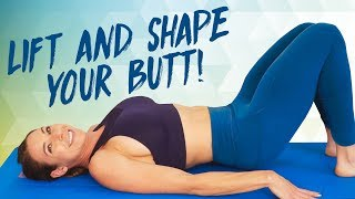Lift & Shape That Butt at Home! Equipment Free Glute Workout, Inner Thighs, Butt Lift, Fitness