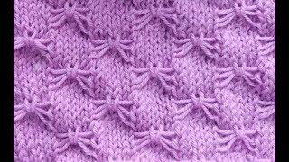 Узор БАБОЧКИ спицами / Butterfly stitch knitting