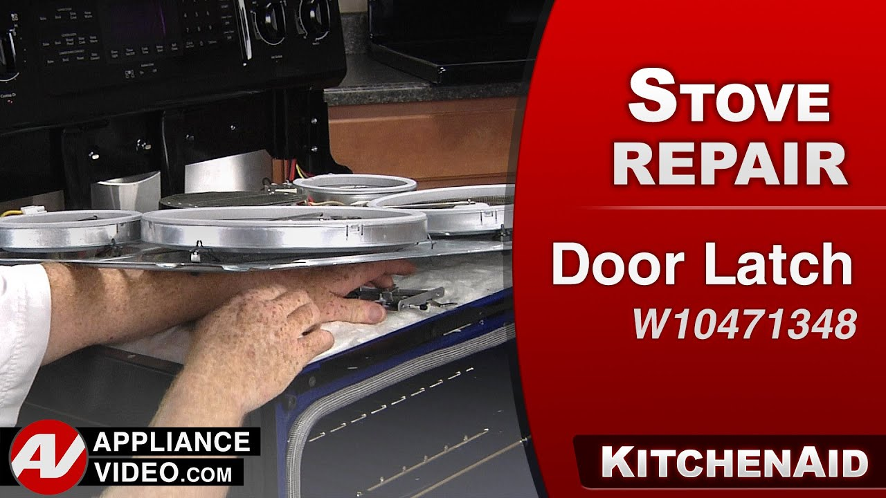 Kitchenaid Whirlpool Oven Door Latch Repair Youtube
