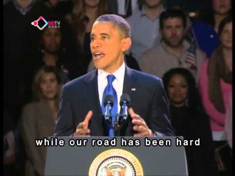 Obama's victory speech PART 1