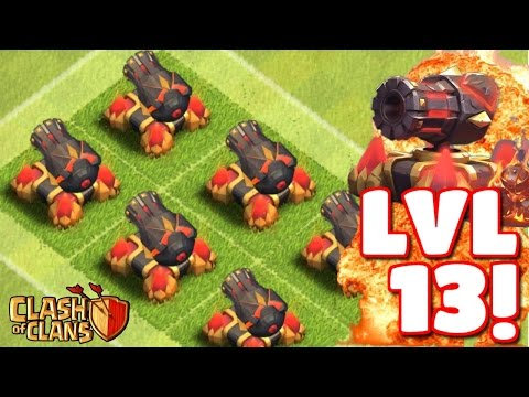 Clash of Clans - MAX LEVEL 13 CANNON IN