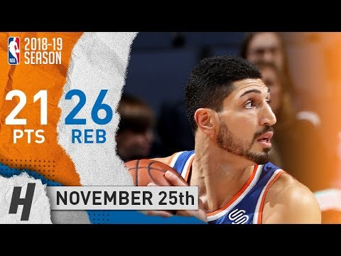Enes Kanter Full Highlights Knicks vs Grizzlies 2018.11.25 - 21 Pts, 3 Ast, 26 Rebounds!