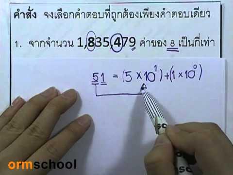ข้อสอบเข้าม.1 : คณิตศาสตร์ ชุด01 ตอน01