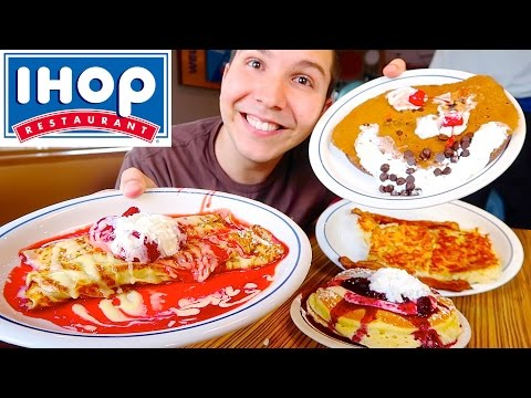 Bacon, Hash Browns, Crepes, & Cheesecake Pancakes • Ihop • M