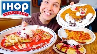 Gambar cover Bacon, Hash Browns, Crepes, & Cheesecake Pancakes • Ihop • MUKBANG