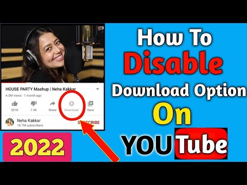 How To Disable Download Option On YouTube Video | Disable Download And Share Option On YouTube Video