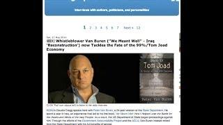 Whistleblower Van Buren - the Fate of  The 99% Tom Joad Economy
