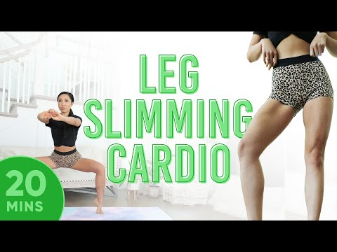 20 Minute Leg Slimming Cardio Pilates Workout | 7 Day Thigh Challenge (do This Video Every Day)
