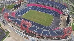 Drone Nashville - Flying Over LP Field Home of the Tennessee Titans